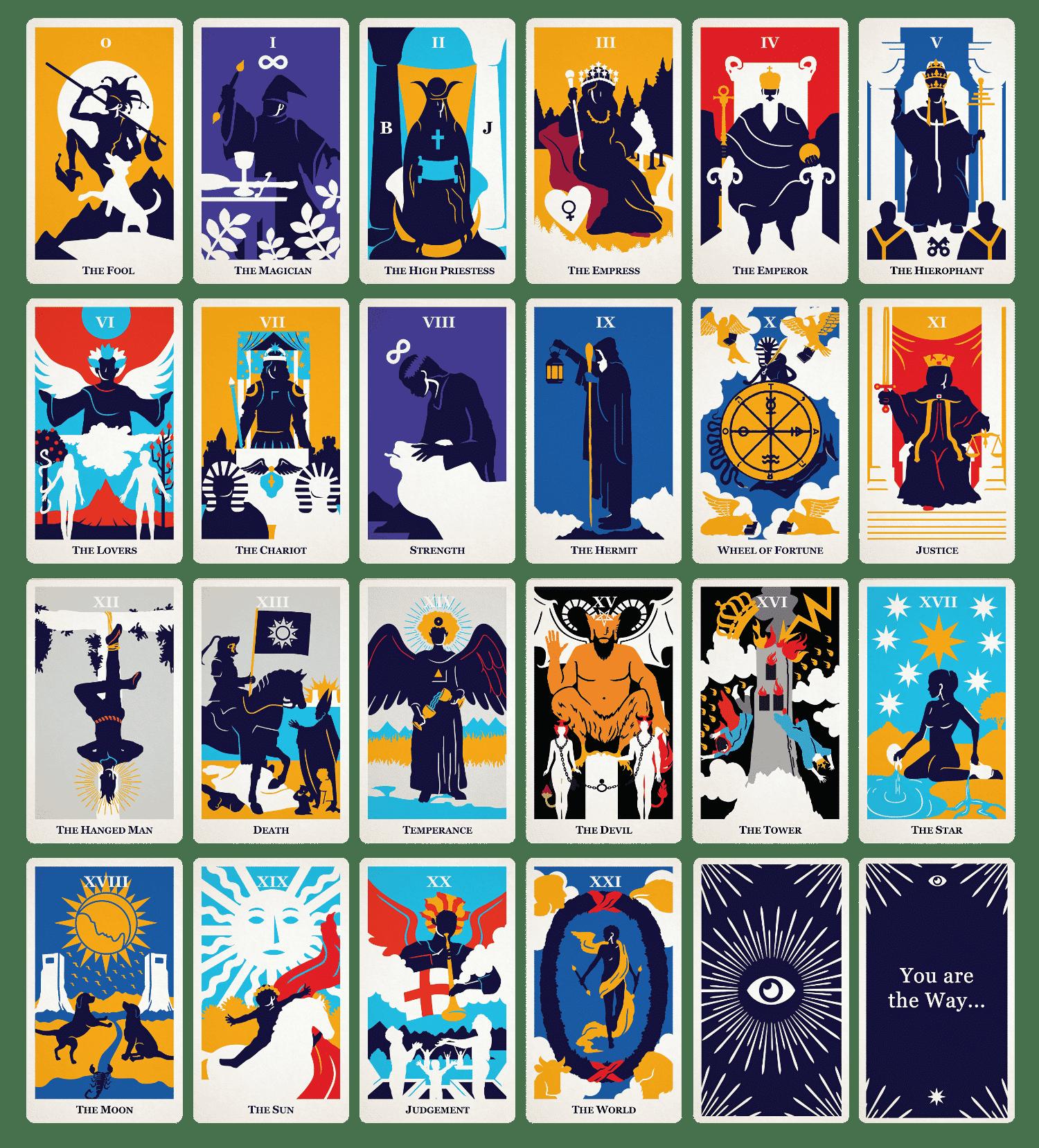all tarot card list modern way tarot