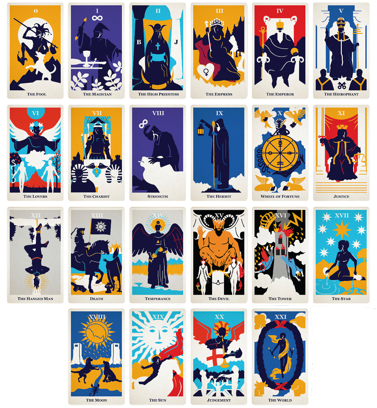 major arcana tarot cards modern way
